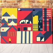 Mod Made 'Color Maze' Graphic Art on Wrapped Canvas; 20'' H x 28'' W x 1.5'' D