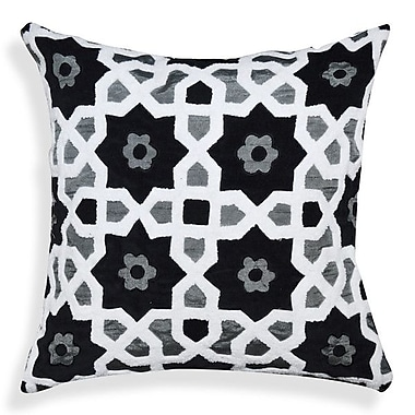 A1 Home Collections LLC Floral-Geometric Pattern Cotton Throw Pillow