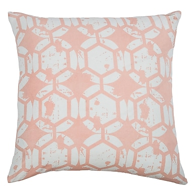 Wildon Home Chasitti Cotton Throw Pillow; Pink