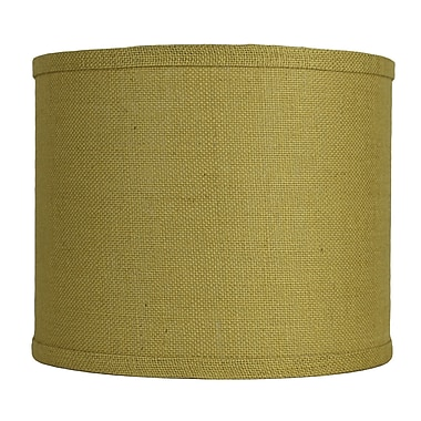 Urbanest Classic 12'' Burlap Drum Lamp Shade; Mustard Yellow
