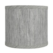 Urbanest Classic Smooth 8'' Linen Drum Lamp Shade; Storm