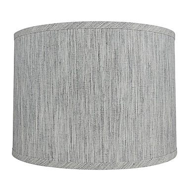 Urbanest Classic Smooth 14'' Linen Drum Lamp Shade; Storm