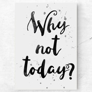 Mod Made 'Why Not Today?' Textual Art on Wrapped Canvas; 16'' H x 11'' W x 1.5'' D