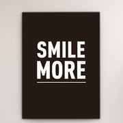 Mod Made 'Smile More' Textual Art on Wrapped Canvas; 28'' H x 20'' W x 1.5'' D