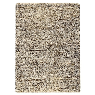 M.A. Trading Square Hand-Woven White Area Rug; 3' x 5'4''