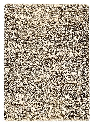 M.A. Trading Square Hand-Woven White Area Rug; 4'6'' x 6'6''