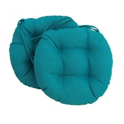 Blazing Needles Outdoor Chair Cushion (Set of 2); Emerald