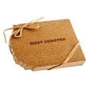 Thirstystone West Coast Shaped Cork Coaster (Set of 4)