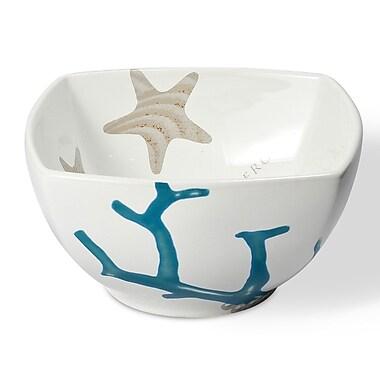 Intrada Vivere Coral Square Bowls (Set of 4)