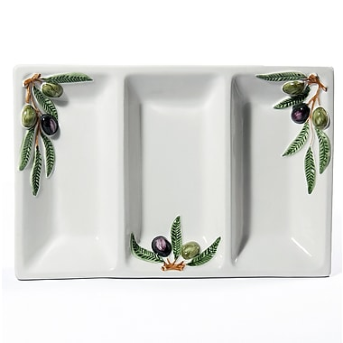 Intrada Napoli Olive Divided Serving Dish