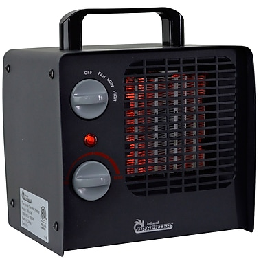 Dr. Infrared Heater 1,500 Watt Portable Electric Fan Compact Heater w/ Adjustable Thermostat