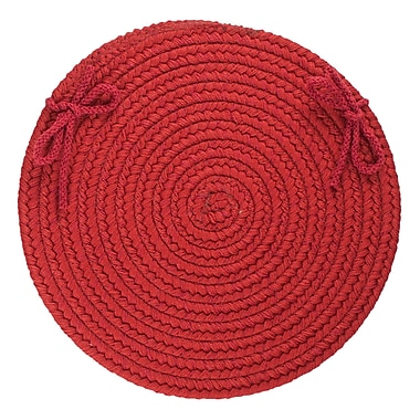 August Grove 100pct Wool Chair Pad; Scarlet