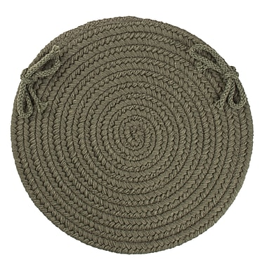 August Grove 100pct Wool Chair Pad; Dark Sage