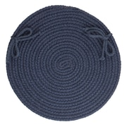 August Grove 100pct Wool Chair Pad; Navy