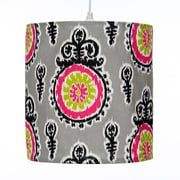 Sweet Potato by Glenna Jean Pippin Hanging 14'' Fabric Drum Pendant Shade