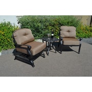 K B Patio Elizabeth 3 Piece Deep Seating Group w/ Cushion