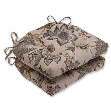 Pillow Perfect Jacobean Flair Vermeil Reversible Chair Pad (Set of 2)