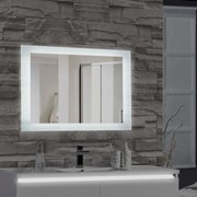 MTDVanities Encore LED Illuminated Bathroom Wall Mirror; 27'' H x 48'' W x 2.5'' D