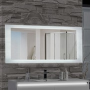 MTDVanities Encore LED Illuminated Bathroom Wall Mirror; 27'' H x 70'' W x 2.5'' D