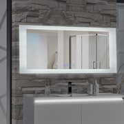 MTDVanities Encore LED Illuminated Bathroom Wall Mirror w/ Built-In Bluetooth Audio Speaker