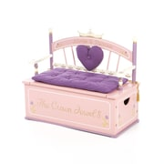 Levels of Discovery Princess Kids Bench w/ Storage Compartment