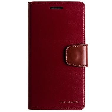 Mercury Sonata Diary Cell Phone Case for Galaxy S6 edge, Wine (MR-SD-GS6E-WN)