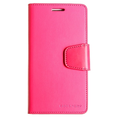 Mercury Sonata Diary Cell Phone Case for Galaxy S6, Hot Pink (MR-SD-GS6-HP)