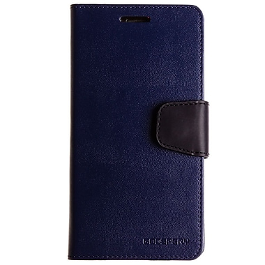 Mercury Sonata Diary Cell Phone Case for Galaxy S6, Navy (MR-SD-GS6-NV)