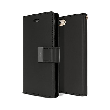 Mercury Rich Diary Cell Phone Case for iPhone 7 Plus, Black (MR-RD-iP7P-BB)