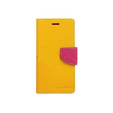 Mercury - Étui de téléphone Fancy Diary pour Galaxy S6 Edge, jaune/rose éclatant (MR-FD-GS6E-YH)