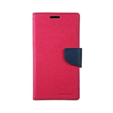Mercury Fancy Diary Cell Phone Case for Galaxy S6, Hot Pink/Navy (MR-FD-GS6-HN)