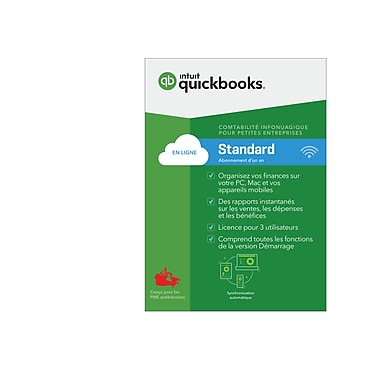 Intuit QuickBooks Online Essentials, Monthly Subscription, French