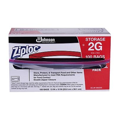 Ziploc® 2 Gallon Storage Bags Commercial 100 CT