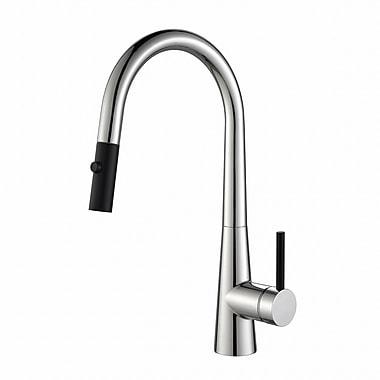Kraus Crespo Single Handle Pull Down Kitchen Faucet; Chrome