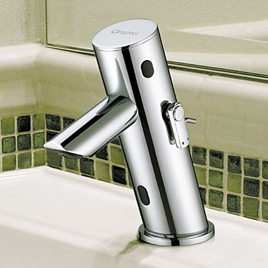 Cinaton iSense 2 Sensor Deck Bathroom Faucet w/ Less Handle; Brushed Nickel