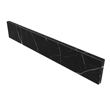 D'Vontz Natural Stone Backsplashes 25'' Stone Backsplash; Black Marquine