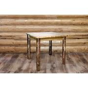 Montana Woodworks  Glacier Country 4 Post Square Dining Table; 36'' H x 45'' W x 45'' D