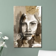 Maxwell Dickson 'Lost' Portrait Painting Print on Wrapped Canvas; 20'' H x 16'' W