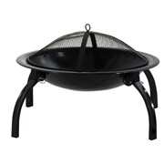 DeckMate Quick Fire Outdoor Portable Steel Wood Fire Pit