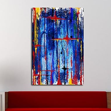 Maxwell Dickson ''Blue Melodies'' Painting Print on Canvas; 18'' H x 24'' W