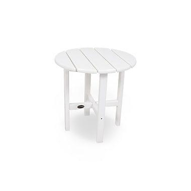 POLYWOOD Side Table; White