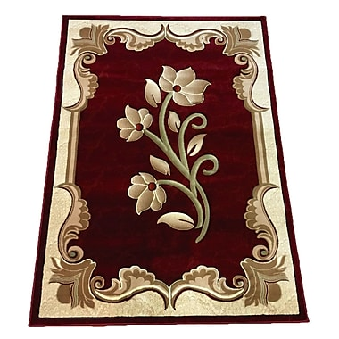 LYKE Home Red Area Rug; 4' x 6'