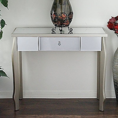 Heather Ann Amelia Console Table; Champagne