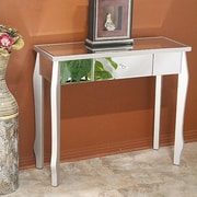 Heather Ann Amelia Console Table; Silver