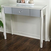Heather Ann Amelia Console Table; Antique White