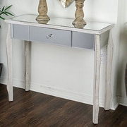 Heather Ann Amelia Console Table; White Wash