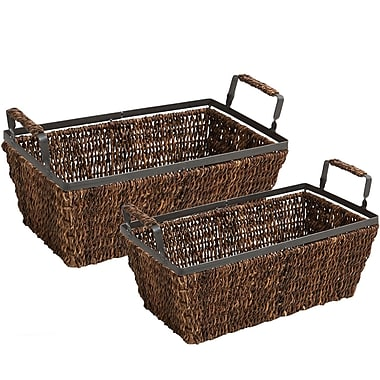 Bayou Breeze Wicker 2 Piece Basket Set