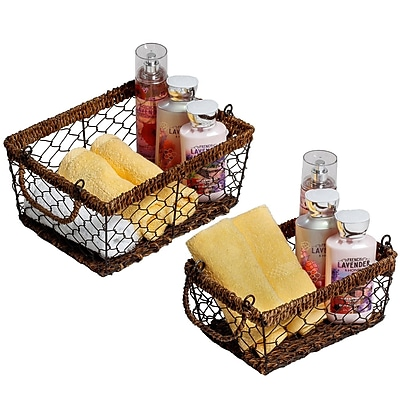 Bayou Breeze 2 Piece Rectangular Basket Set