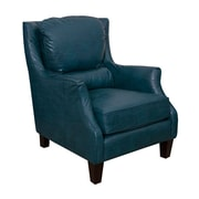 GraftonHome Ross Bonded Leather Club Chair; Peacock
