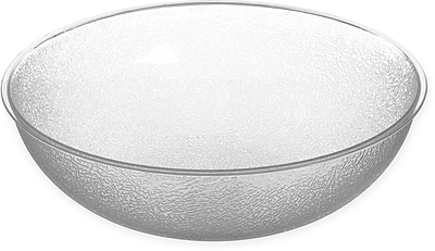 Carlisle Round Pebbled Bowl, 11 qt, Clear (721507)